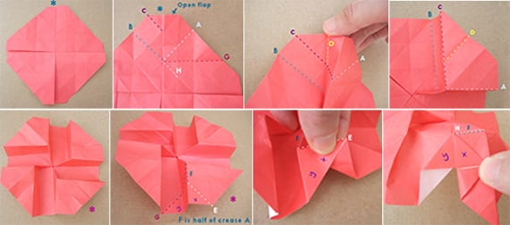 origami blume anleitung - origami rose