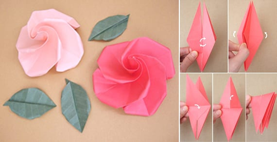 coole bastelidee für origami rose
