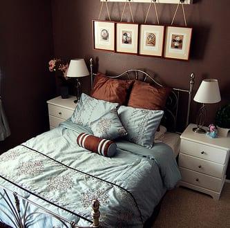 schlafzimmer braun wandfarbe braun freshouse. Black Bedroom Furniture Sets. Home Design Ideas