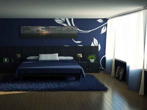 schlafzimmer blau - farbgestaltung zur erholung und zum ... - Wanddeko Schlafzimmer