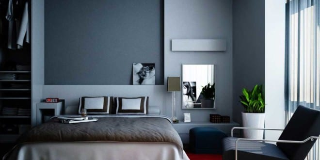 schlafzimmer grau mit teppich rot freshouse. Black Bedroom Furniture Sets. Home Design Ideas