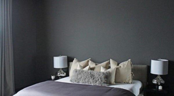 schlafzimmer ideen wandgestaltung grau schlafzimmer mit ...