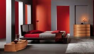schlafzimmer rot -farbgestaltung - fresHouse