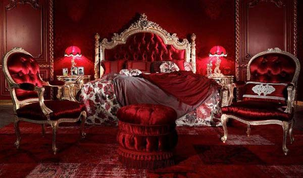 Luxus Schlafzimmer Rot