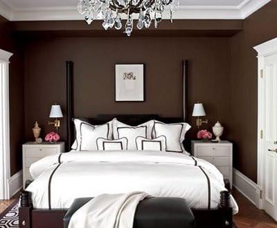 Schlafzimmer wandfarbe braun freshouse - Wandfarbe braun ...