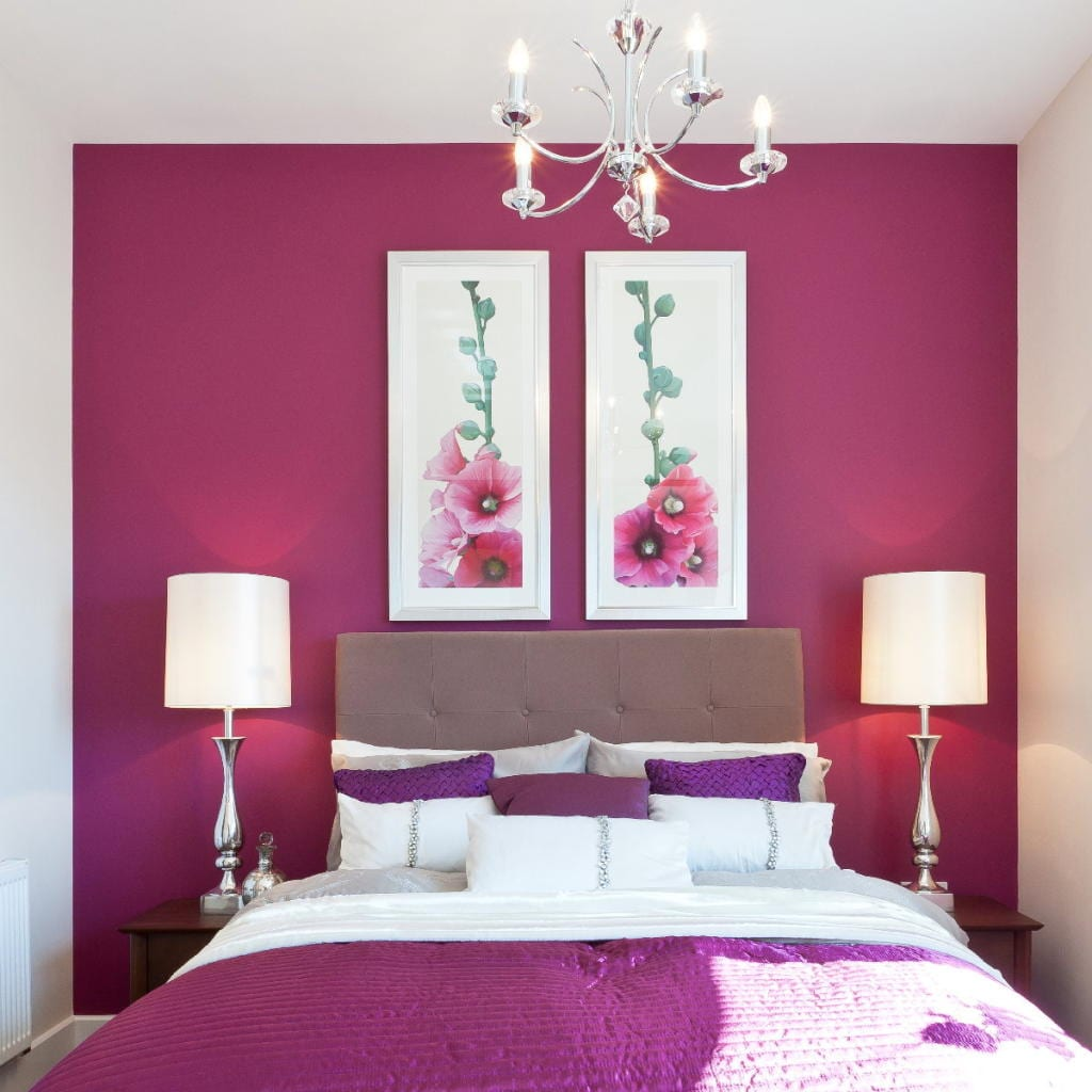 purple and pink bedroom paint ideas schlafzimmer wandfarbe ideen f 252 r grelle schlafzimmer 20780