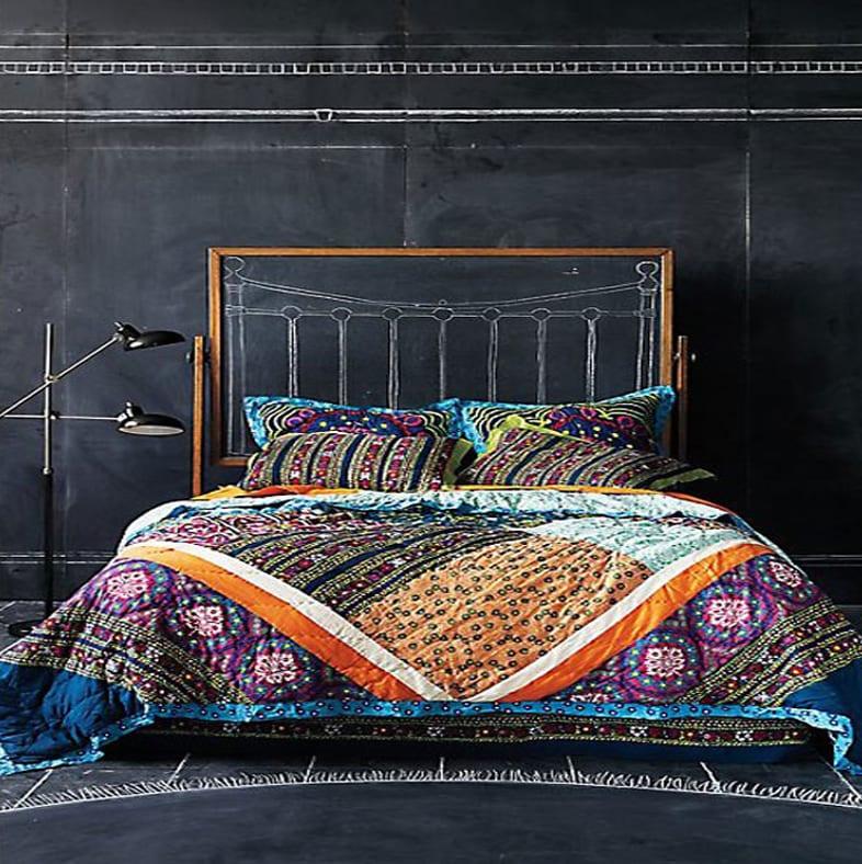 ideen für wandgestaltung - schlafzimmer schwarz