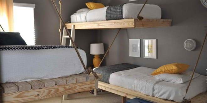 schlafzimmergestaltung-wandfarbe grau - freshouse - Schlafzimmergestaltung