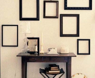 schwarze bilderrahmen dekorieren freshouse. Black Bedroom Furniture Sets. Home Design Ideas