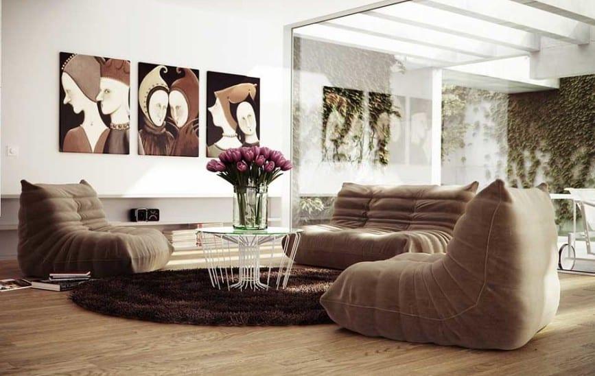 hochteppich braun rund-moderne seats and sofas braun