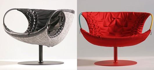 moderne sessel schwarz und rot