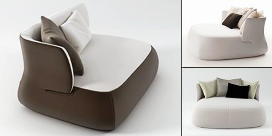 luxus wohnzimmermöbel in weiß und braun