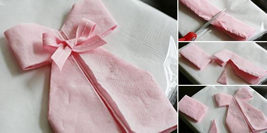 papierservieten falten-kreative bastelideen