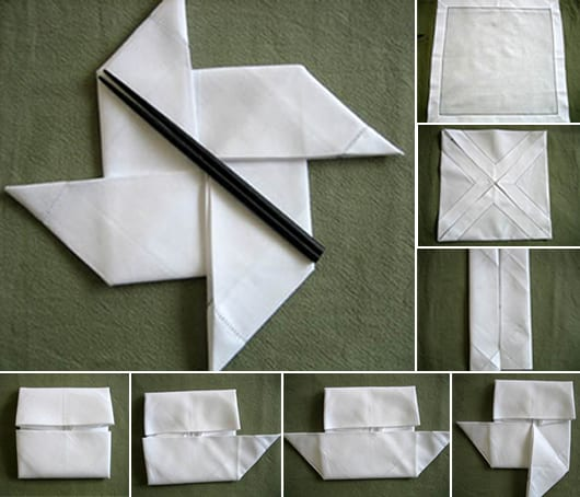elegante tisch deko mit DIY servietten Falten