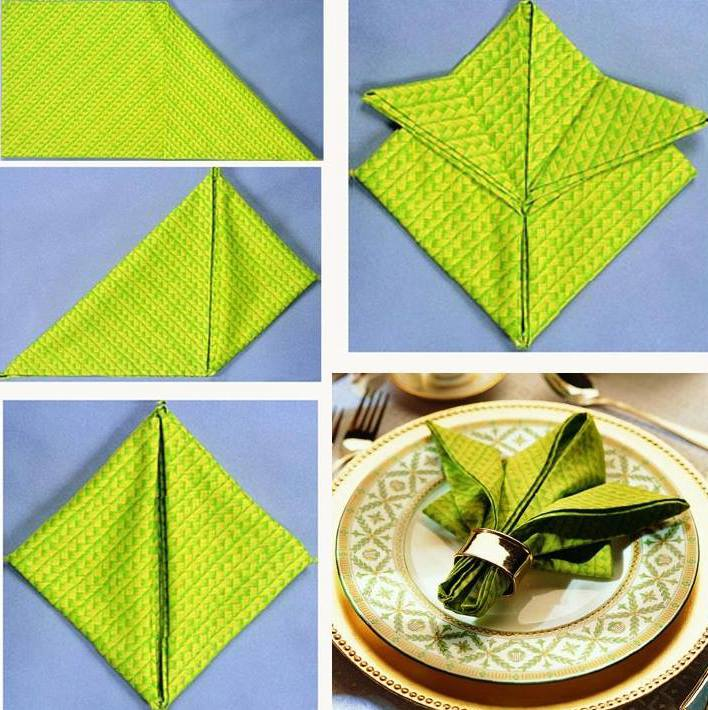 coole bilder für servietten falten
