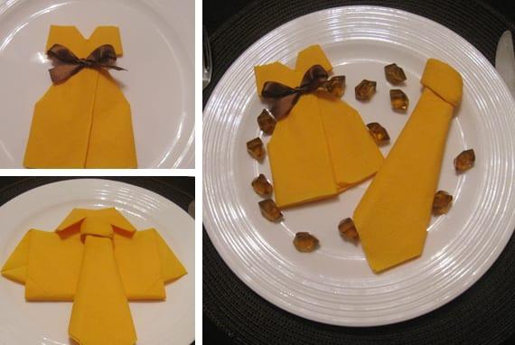 servietten falten hochzeit- coole DIY Tischdeko mit papierservietten