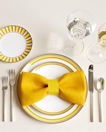 elegante tischdeko in gelb