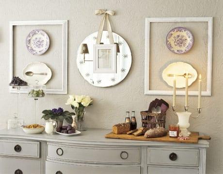 bilderrahmen dekorieren-ideen für wandgestaltung in weiß