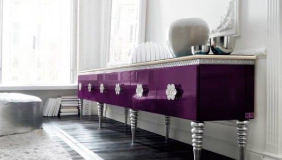 Sideboard dekorieren sideboard lila freshouse - Sideboard dekorieren ...