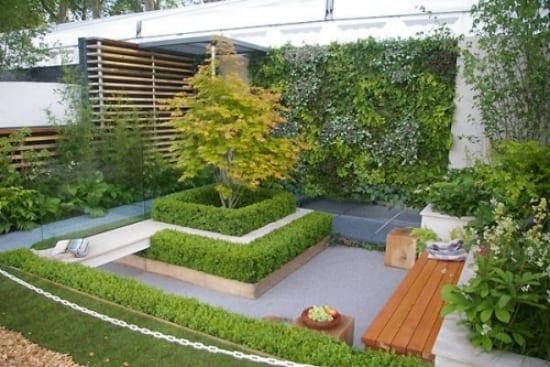 Gartengestaltung kleines gartens