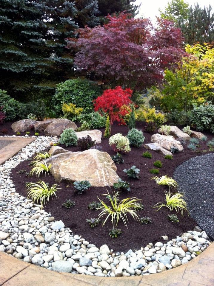 garten ideen für steingarten