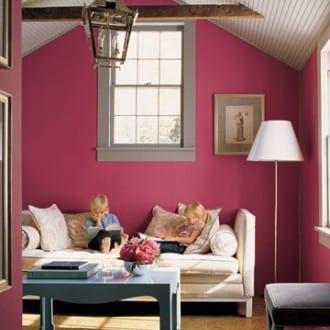 stylisches wohnzimmer-altrosa wandfarbe - fresHouse