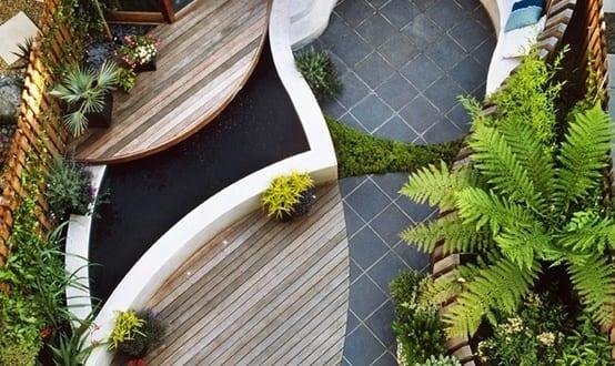 terrassengestaltung kleiner garten in der stadt freshouse. Black Bedroom Furniture Sets. Home Design Ideas