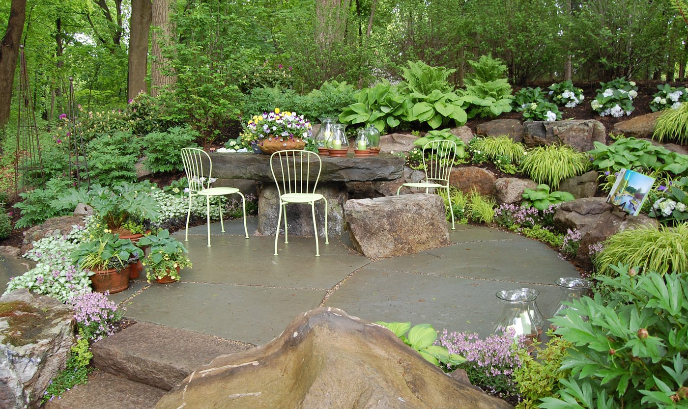 coole steingarten gestaltung- fantastische terrassengestaltung im garten