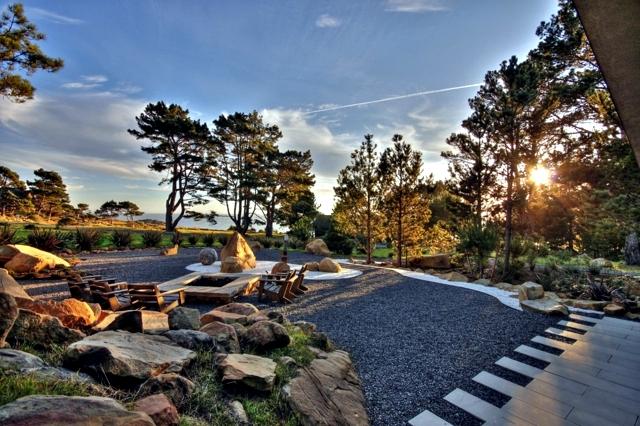 fantastische garten idee für modernen steingarten mit Gartenmöbel aus europaletten