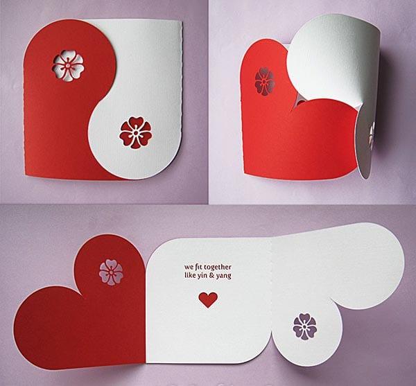 kreative valentinstag karte