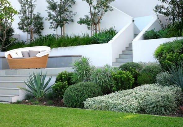 vorgartengestaltung mit treppe