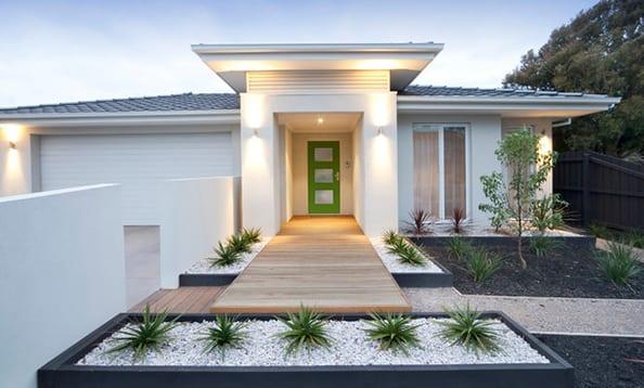 minimalistischer vorgarten-hauseingang gestalten
