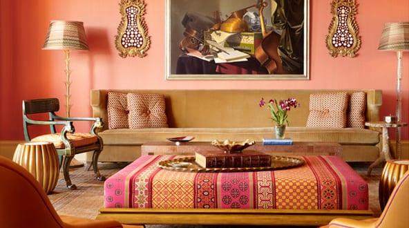 Wandfarbe Apricot - frische Wand Streichen Ideen - fresHouse