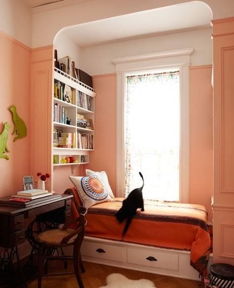 schlafzimmer gestalten in hellrosa und weiß