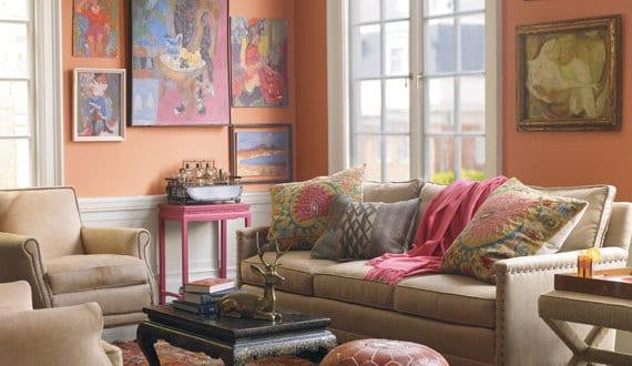 wandfarbe aprikot wohnzimmergestaltung freshouse. Black Bedroom Furniture Sets. Home Design Ideas