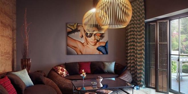 Wandfarbe Braun – Zimmer Streichen Ideen in Braun