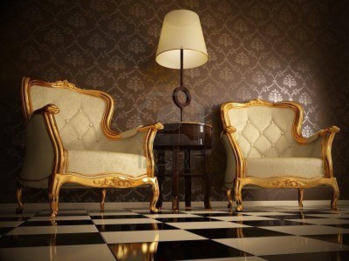 luxus wohnzimmer mit wandfarbe braun und bodenfliesen schwarz weiß