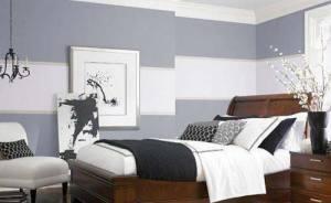 wandfarbe grau graue wand mit wei en streifen freshouse. Black Bedroom Furniture Sets. Home Design Ideas