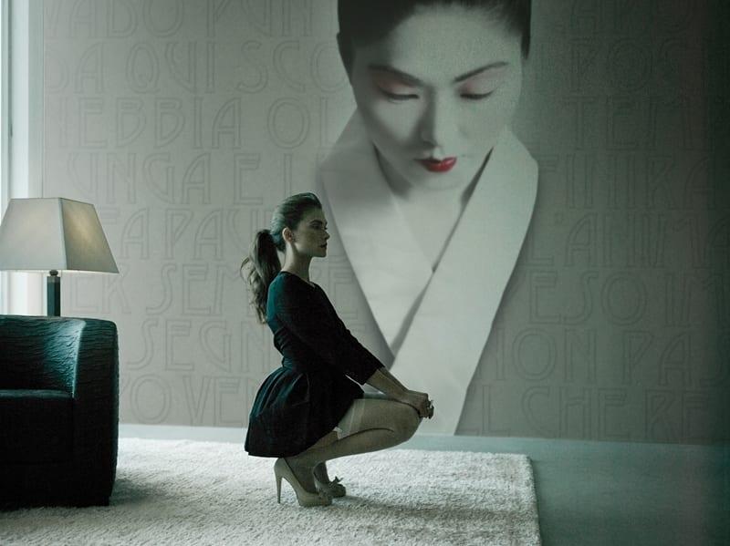 minimalistisches wohnzimmer interior- teppich weiß