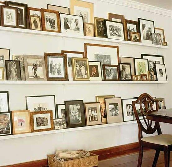 wohnzimmer wandgestaltung mit Bildern
