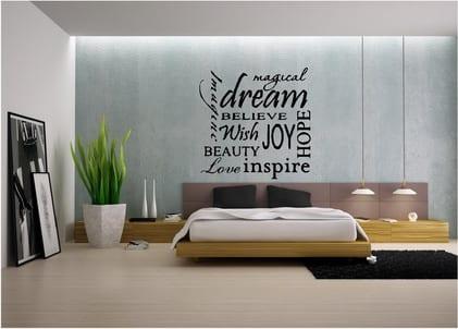 wandtattoo spr che schlafzimmer freshouse. Black Bedroom Furniture Sets. Home Design Ideas