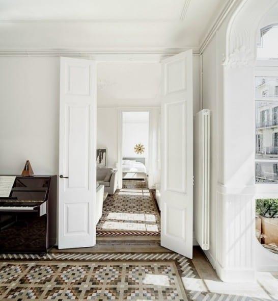 wohnzimmer inspirationen mit weißen innentüren