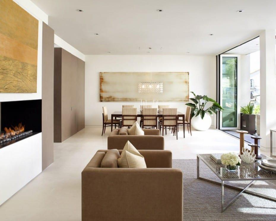 luxus wohnzimmer mit wandfarbe Taupe-polstersessel braun beige