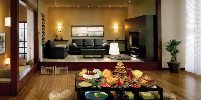 wohn esszimmer stylisches wohnzimmer asiatischer stil - Asiatisches Wohnzimmer