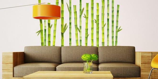 Wohnzimmer bambus wandtattoo freshouse - Bambus im wohnzimmer ...