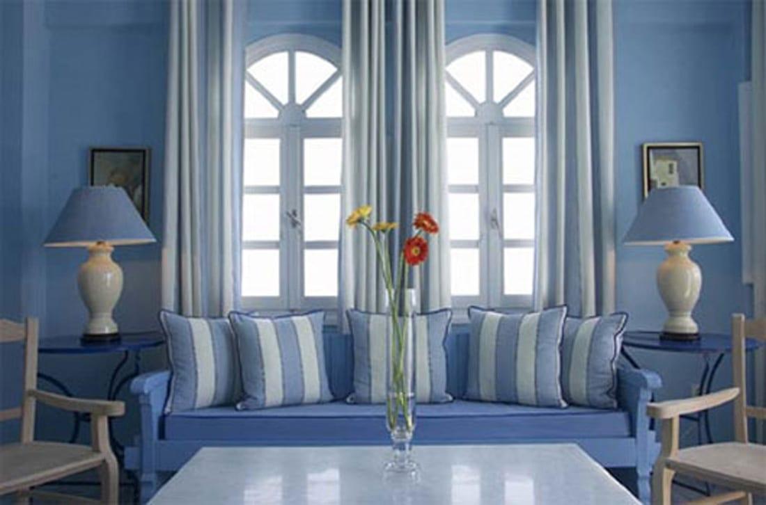 wohnzimmer blau - ideen für ein schönes wohnzimmer - freshouse - Wohnzimmer Blau Weis