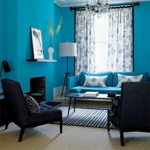 wohnzimmer blau wand streichen idee freshouse