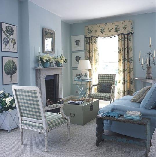 kamin im wohnzimmer-vintage einrichtung wohnzimmer