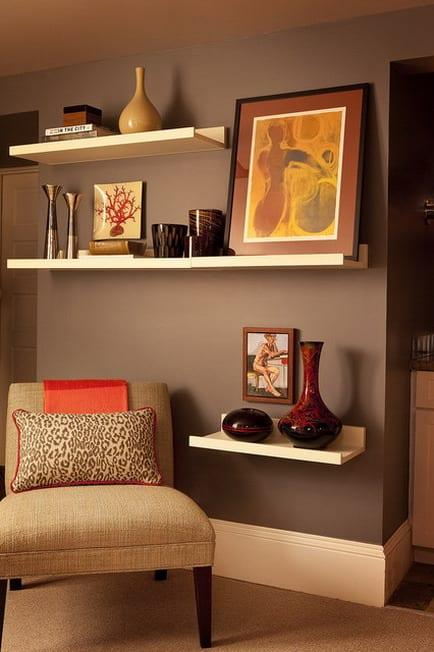 moderne wandfarben - wohnzimmer streichen