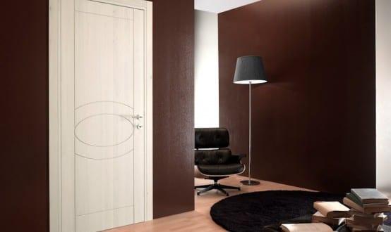 wohnzimmer braun - innentüren weiß - fresHouse